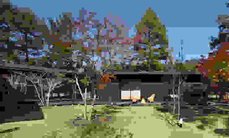 森を包む家 -軽井沢別荘- の Studio tanpopo-gumi 一級建築士事務所 モダン 木 木目調