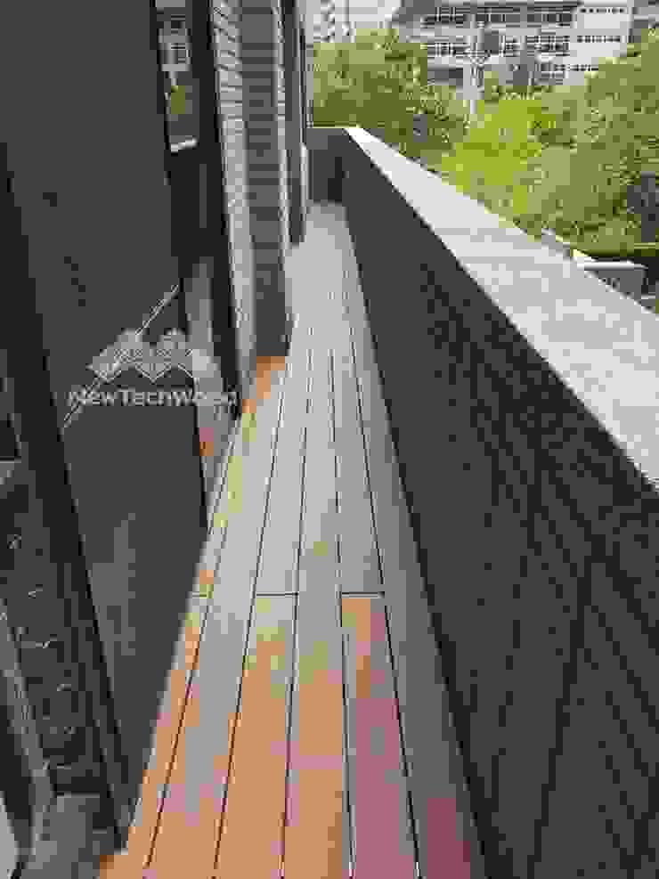 內湖─露臺空間 根據 新綠境實業有限公司 日式風、東方風 塑木複合材料