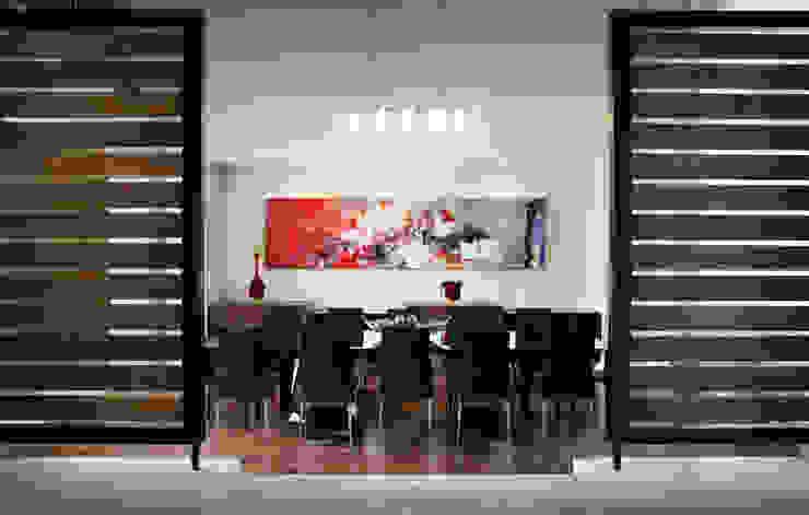 Modern dining room by RFoncerrada arquitectos Modern Wood Wood effect