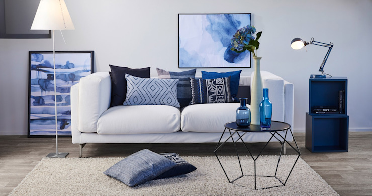 Alfred Apelt GmbH Ruang Keluarga Modern Blue