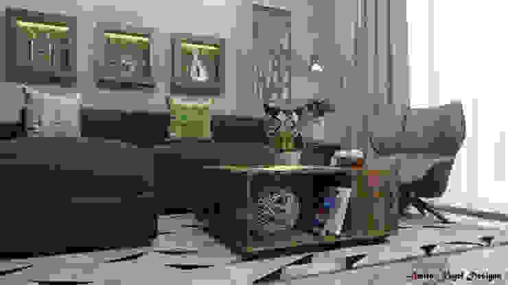 Гостиная в . Автор – AmiraNayelDesigns, Модерн