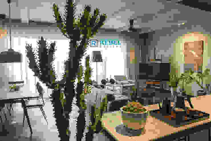 Modern Living Room by Rebel Designs Modern Wood Wood effect