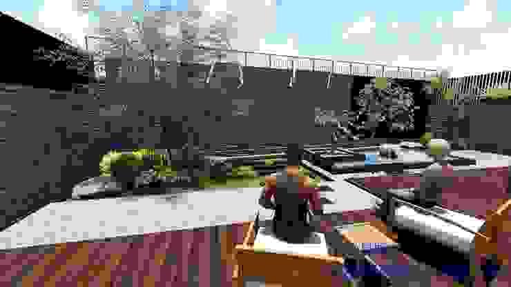 新竹風城庭園景觀 規劃設計中: 鄉村  by 沐頡景觀設計公司, 田園風