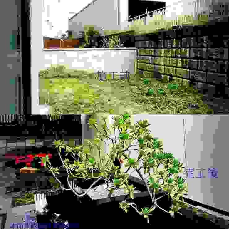 新竹風城庭園景觀 施工前後比4: 鄉村  by 沐頡景觀設計公司, 田園風