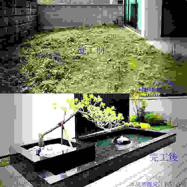 新竹風城庭園景觀 施工前後比5: 鄉村  by 沐頡景觀設計公司, 田園風