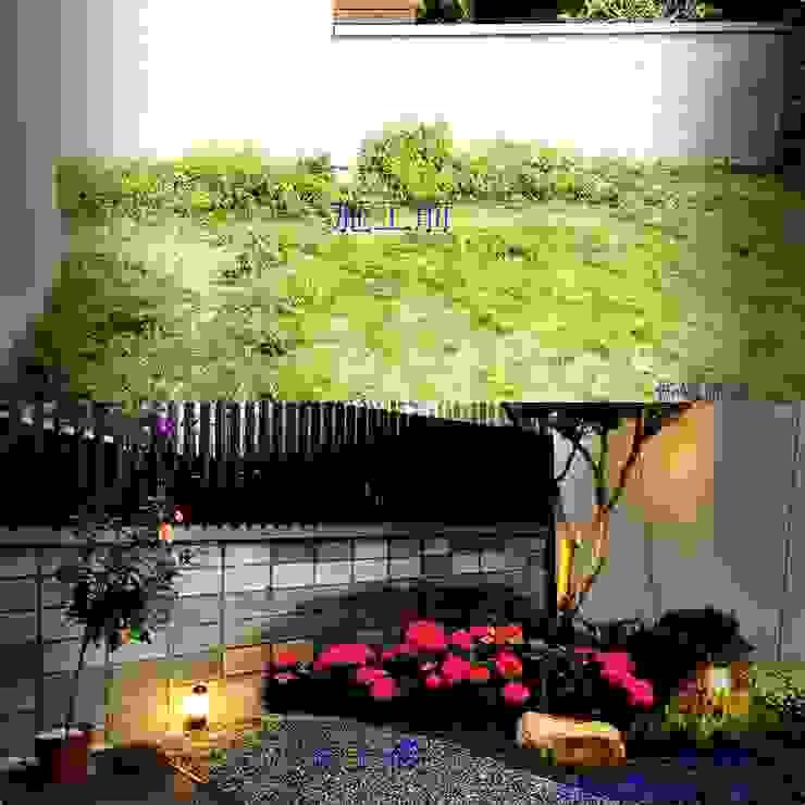 新竹風城庭園景觀 施工前後比6: 鄉村  by 沐頡景觀設計公司, 田園風