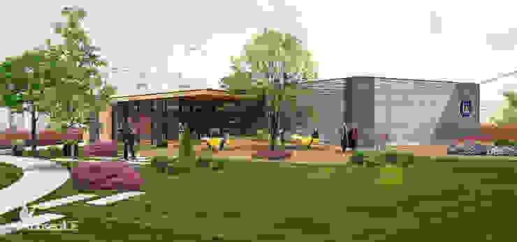 ULUDAĞ KOLEJİ Peyzaj Projelendirme & Landscaping Project Klasik Balkon, Veranda & Teras konseptDE Peyzaj Fidancılık Tic. Ltd. Şti. Klasik