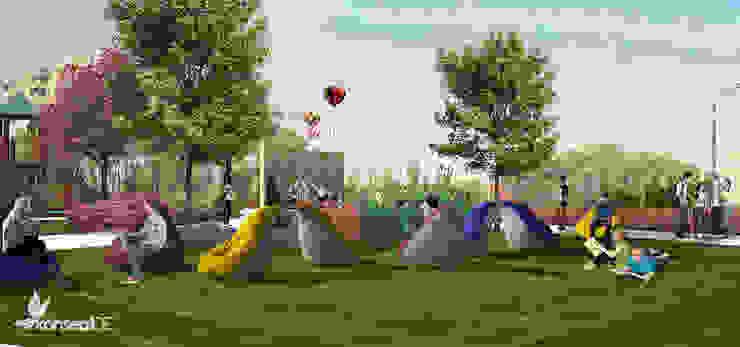 ULUDAĞ KOLEJİ Peyzaj Projelendirme & Landscaping Project Klasik Bahçe konseptDE Peyzaj Fidancılık Tic. Ltd. Şti. Klasik