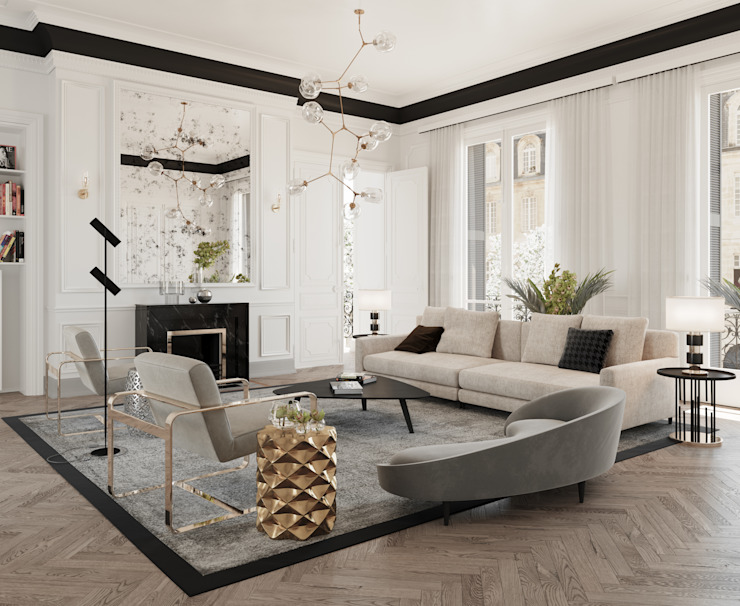 Living room by Dessiner Interior Architectural