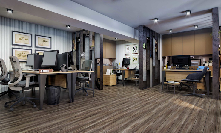Modern offices & stores by ANTE MİMARLIK Modern