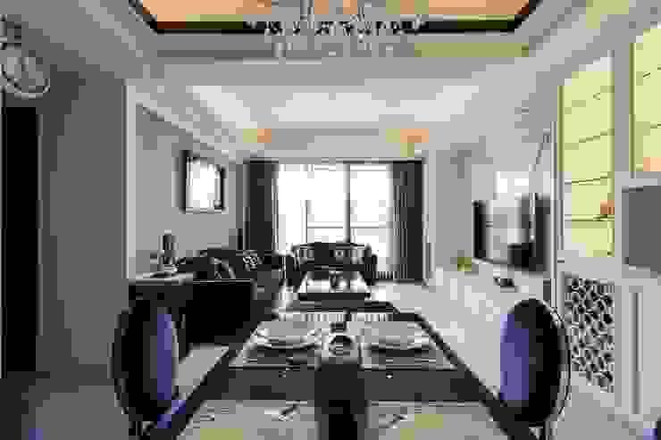 餐廳+客廳 根據 鼎士達室內裝修企劃 古典風 實木 Multicolored