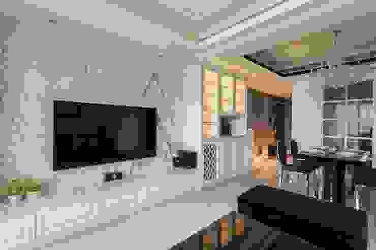 電視牆 根據 鼎士達室內裝修企劃 古典風 大理石