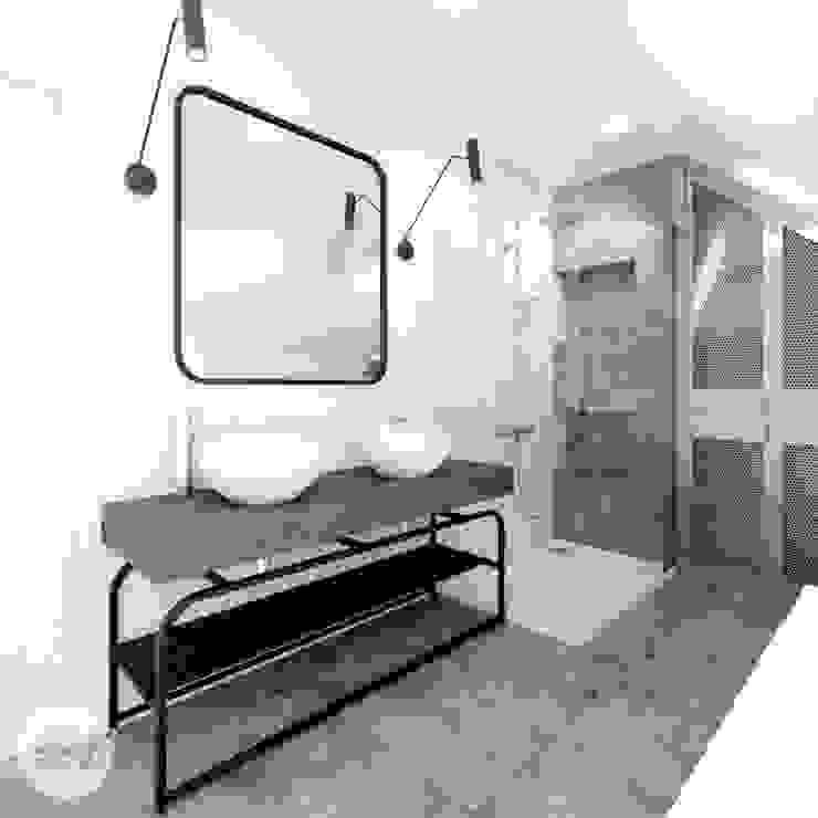 365 Stopni Industrial style bathrooms Iron/Steel Grey