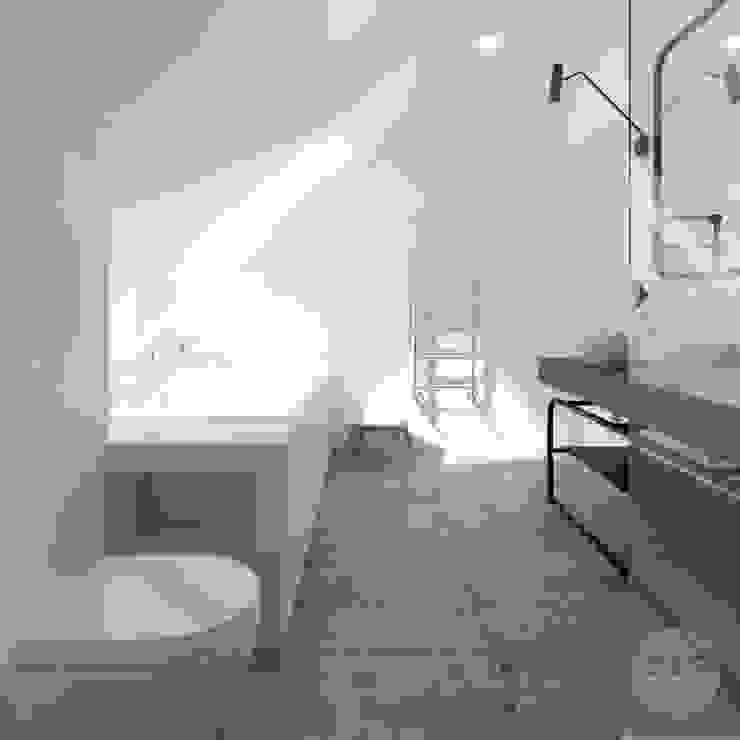 365 Stopni Industrial style bathrooms Concrete Grey