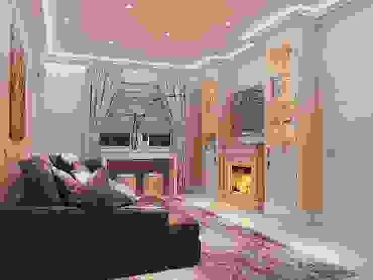 студия Design3F Living room Beige