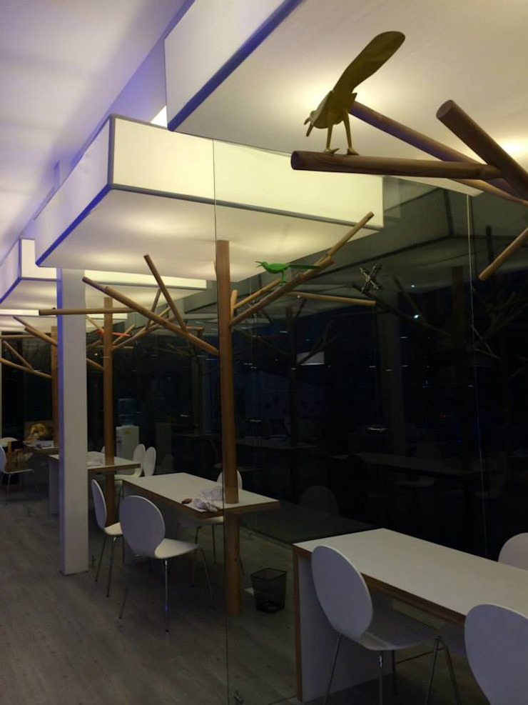 Sala de ventas NIO de QBICUS SAS Rústico