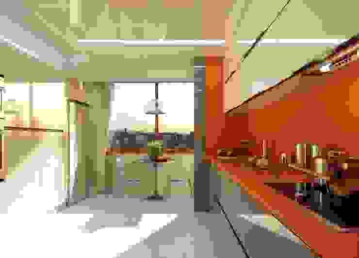 Mutfak yerleşim ANTE MİMARLIK Modern