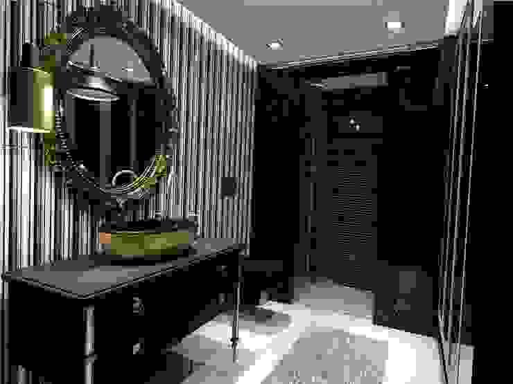 Siyah banyolar Modern Banyo ANTE MİMARLIK Modern