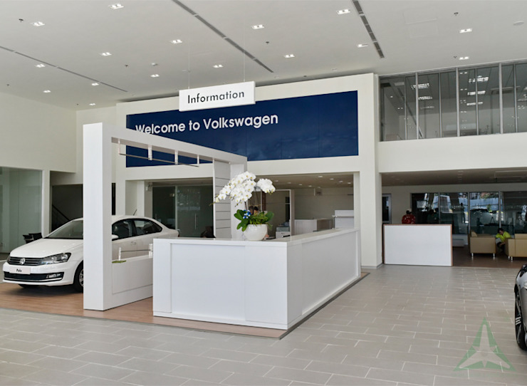 SHOWROOM Ô TÔ VOLKSWAGEN SÀI GÒN bởi VAN NAM FURNITURE & INTERIOR DECORATION CO., LTD. Hiện đại