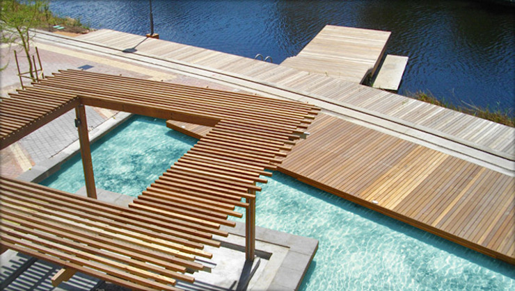 Crystal Towers Boardwalks and Jetties by Town and Country Projects Modern Solid Wood Multicolored
