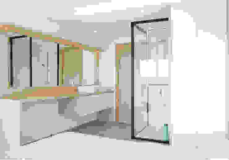 Apartamento frente al mar Dormitorios de estilo moderno de Loft 26 Moderno Cerámico