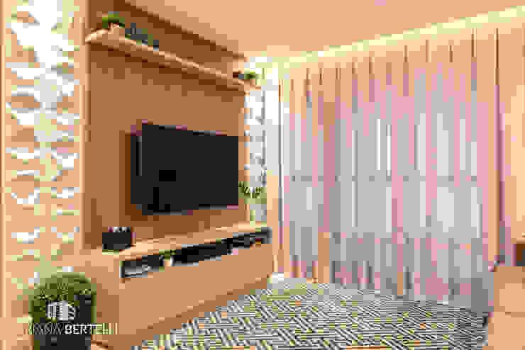 Mariana Bertelli Arquitetura e Interiores Modern Living Room