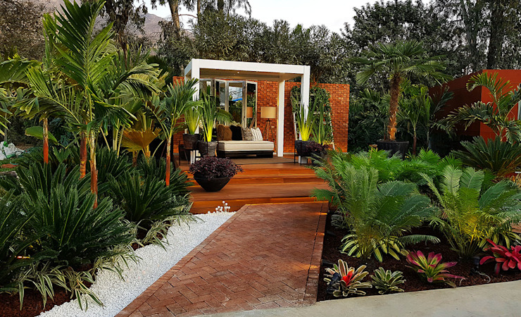 CASACOR 2017: Jardines de estilo  por Marcia Lenz Paisajismo, Tropical