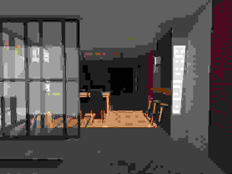 Vista hacia el comedor.:  de estilo  por Creer y Crear. Arquitectura/Diseño/Construcción,