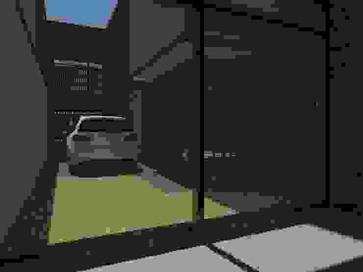 Vista desde el estudio hacia el exterior.:  de estilo  por Creer y Crear. Arquitectura/Diseño/Construcción,