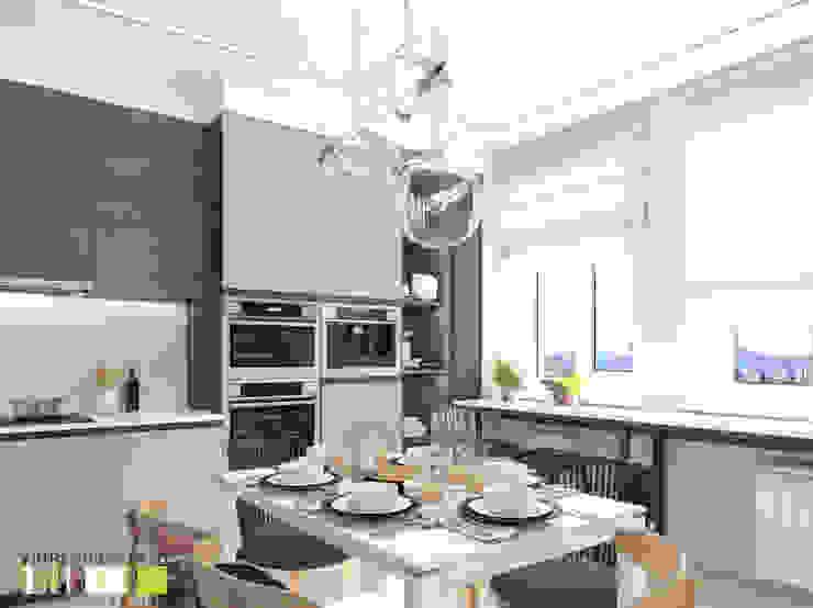 Дом у парка Мастерская интерьера Юлии Шевелевой Кухни в эклектичном стиле