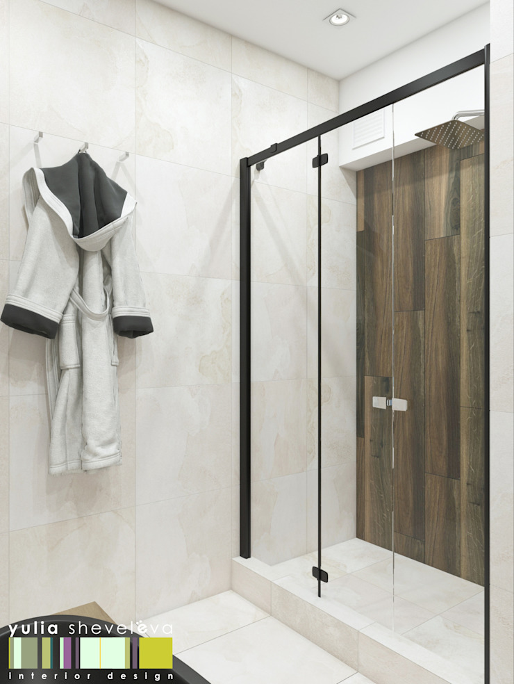 Дом у парка Мастерская интерьера Юлии Шевелевой Ванная комната в эклектичном стиле