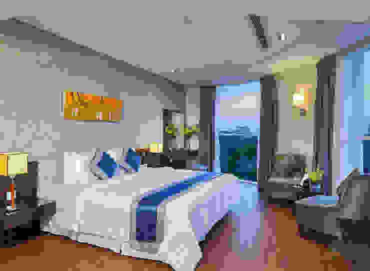 CENTRAL HOTEL SỐ 39-39A NGUYỄN TRUNG TRỰC, BẾN THÀNH, QUẬN 1 Phòng ngủ phong cách hiện đại bởi VAN NAM FURNITURE & INTERIOR DECORATION CO., LTD. Hiện đại