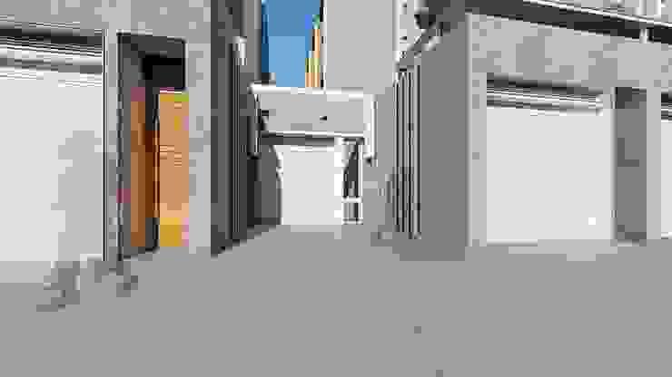 理境 社區戶入口 現代房屋設計點子、靈感 & 圖片 根據 尋樸建築師事務所 現代風