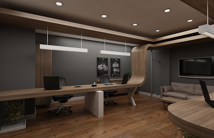 Estudios y despachos de estilo  por Grand Office , Moderno
