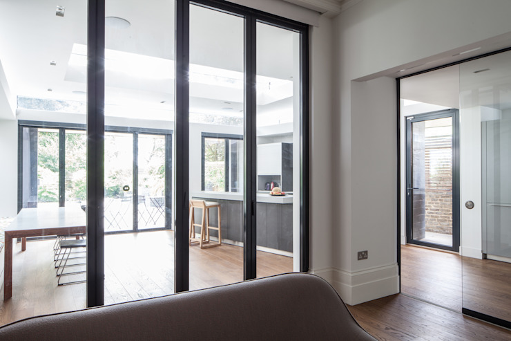 Internal glass doors Red Squirrel Architects Ltd Modern style doors
