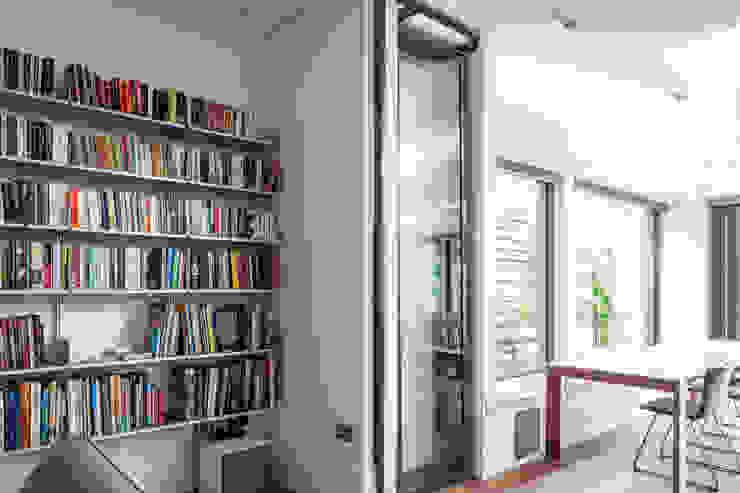 Door recess Red Squirrel Architects Ltd Modern style doors