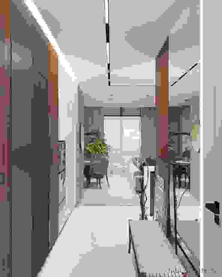 Minimalistischer Flur, Diele & Treppenhaus von Tobi Architects Minimalistisch