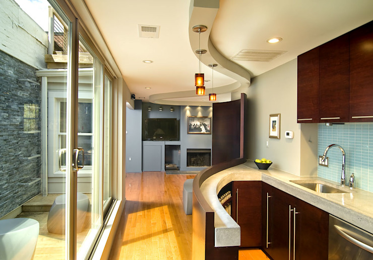 D Street Modern Kitchen by KUBE architecture Modern