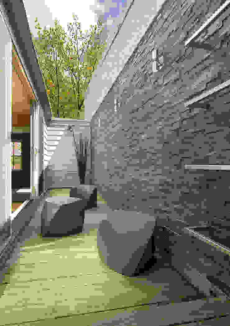D Street Modern Terrace by KUBE architecture Modern