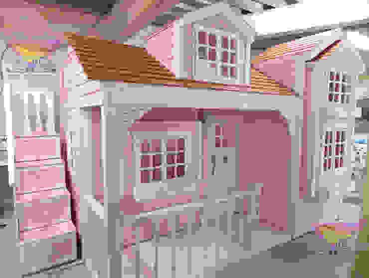 Divina casita Señorial de camas y literas infantiles kids world Clásico Derivados de madera Transparente