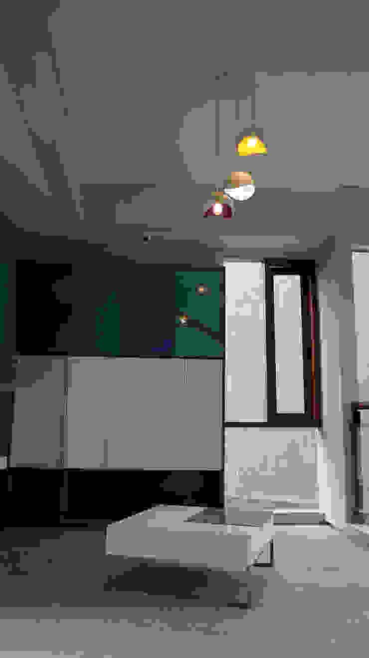 Asian style corridor, hallway & stairs by AIGI Architect + Associates Asian Wood Wood effect