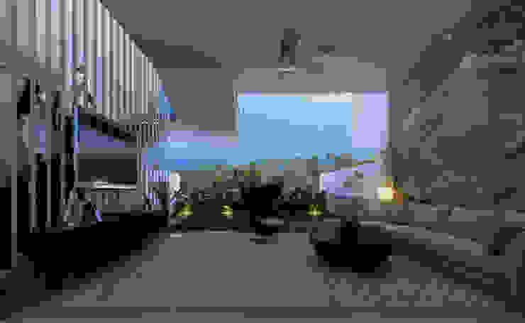 Altitude Sequence Ruang Keluarga Minimalis Oleh AIGI Architect + Associates Minimalis Kaca
