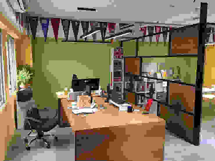 貝爾國際 豐富色彩 辦公室新典範 根據 捷士空間設計(省錢裝潢) 隨意取材風