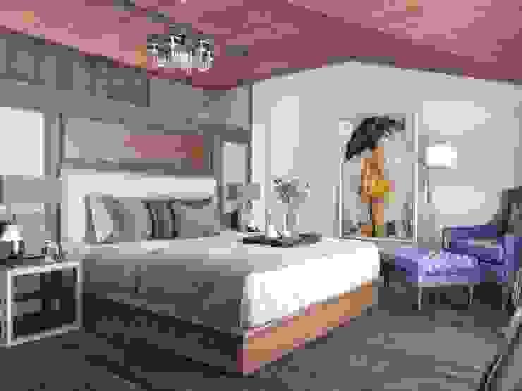 Yatak odası bölümleme Modern Yatak Odası ANTE MİMARLIK Modern