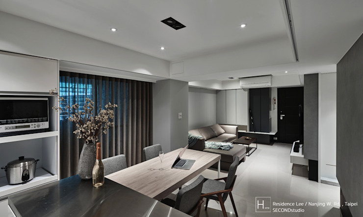 餐廳另一個視角 Modern dining room by SECONDstudio Modern