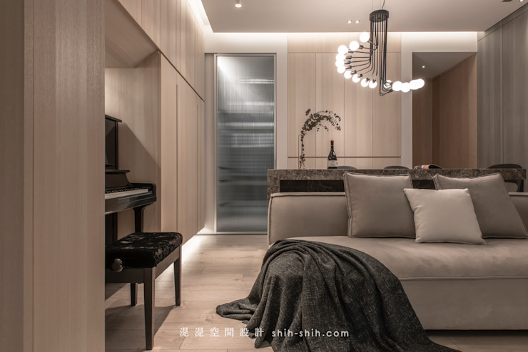 living room / dining area 根據 湜湜空間設計 隨意取材風
