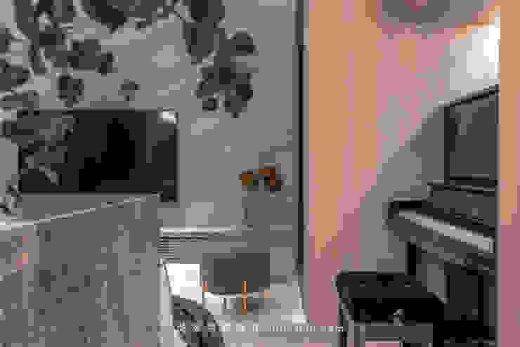 living room 根據 湜湜空間設計 隨意取材風