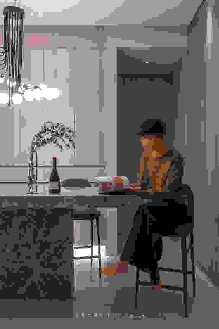 dining area 根據 湜湜空間設計 隨意取材風 大理石