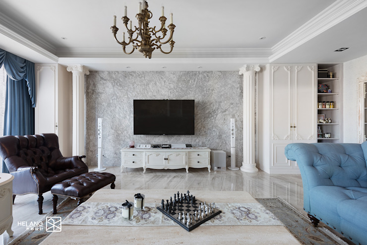 電視牆 Classic style living room by 禾廊室內設計 Classic