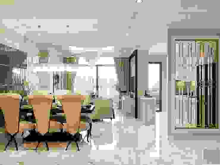 Phong cách Tân Cổ Điển trong thiết kế nội thất căn hộ Vinhomes Phòng ăn phong cách kinh điển bởi ICON INTERIOR Kinh điển